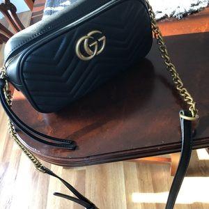 Gucci Purse black GG Marmont matelassé small bag
